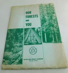 Western Wood Products Portland Oregon Brochures in Paper Folder Vintage Ephemera