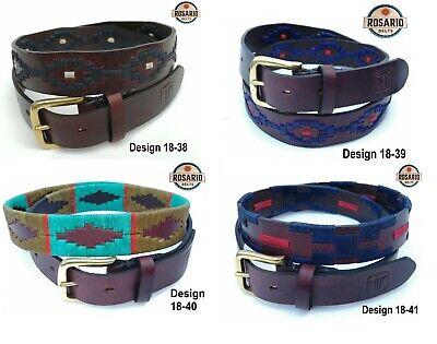 Onestà Polo Cintura Gaucho Argentino Cintura In Pelle Marrone Plus Gratis Portachiavi-mostra Il Titolo Originale