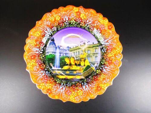 Madrid Spanien Spain Souvenir Teller Plate 25 cm,Wandteller Keramikteller,(2)