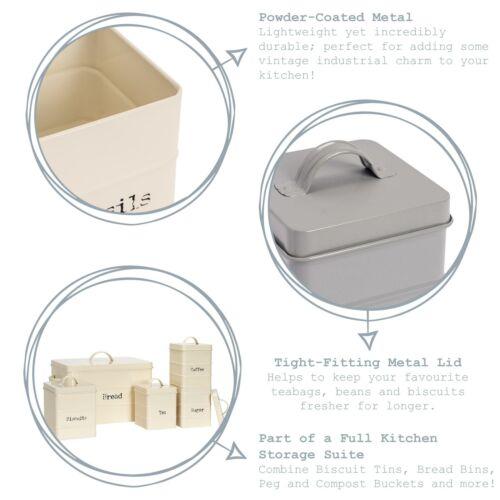 Bread Bin Storage Kitchen Loaf Roll Food Box Retro Home Container Black