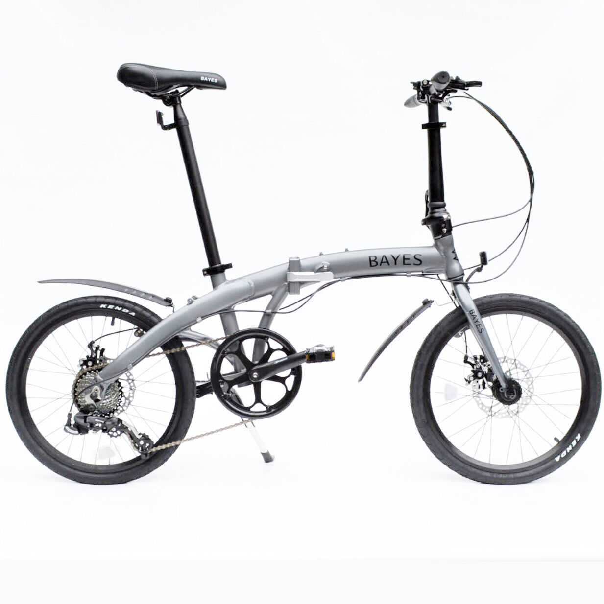 ALU Klapprad 20  Faltrad Fahrrad 8 Gang Shimano Scheibenbremsen grey matt NEU