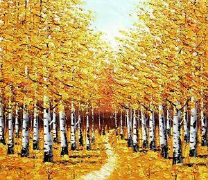 CHENPAT51 modern oil painting autumn tree 100/% hand-painted art on canvas