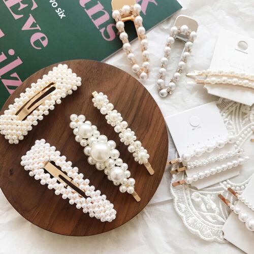 10PCS//SET Perle Haarklammer Haarspange Haarclip Haarschmuck Hochzeit Damen Weiß