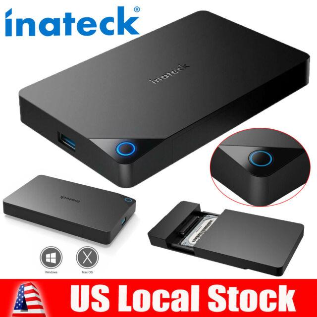 Portable External Hard Drive Enciosure USB3.0 SATA High Speed Black US STOCK