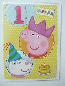Image Is Loading Peppa Pig Amp Suzy Sheep Birthday Card For