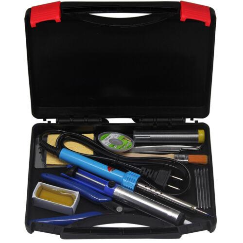 AideTek 30W Soldering Iron Kit15 in 1 Welding Tool Tips Portable Toolbox SPC2