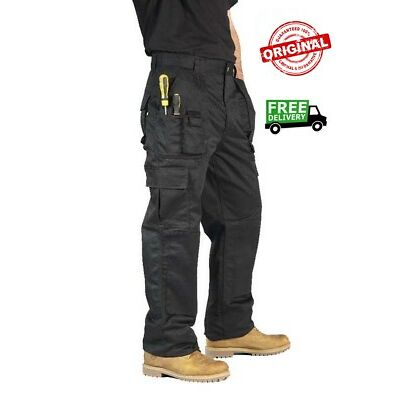 NEW Mens Combat Work Trousers Size 30 to 42 CARGO with KNEE PAD POCKETS - BK06