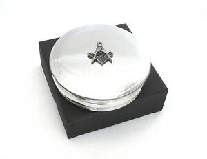 Masonic Pewter Trinket Jewellery Pill Box Ladies Gift