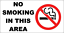 """WARNING PROHIBITED    289 METAL SIGN 11 x 6/""""  NO SMOKING IN THIS AREA"""