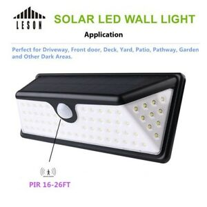 Leson-73-LED-Solar-Power-Wireless-Motion-Sensor-Outdoor-security-IP65-Wall-Light