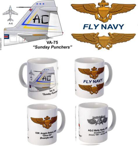 "VA-75 /""Sunday Punchers/"" A-6 Intruder Mug"