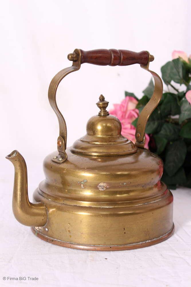 Antike formschöne Metallkanne Kaffeekanne Campingkanne   Westernkanne