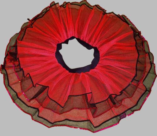 Red Black 4lay tone tutu skirt Adult Ladybug Queen Heart Dance Costume Halloween