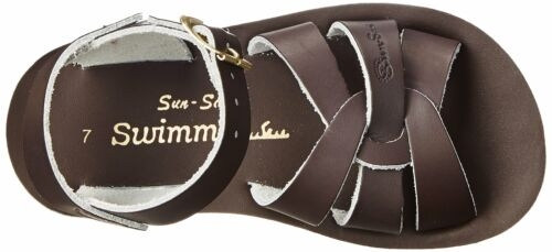 Salt Water 8002-BROWN by Hoy Shoe Sun-San Kids Swimmer Brown Sandals