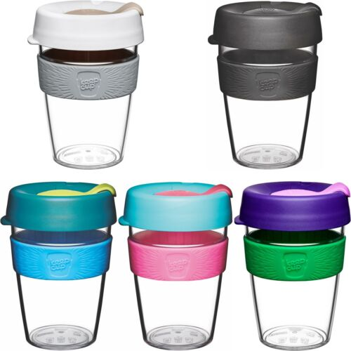 KeepCup Original Clear Edition Reusuable Plastic Coffee Cup Travel Mug Hot//Cold