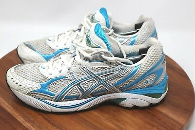 Asics GT 2150 Women's Running Shoes T057N(2A) US Size 9.5 Aqua Blue & Silver EUC | eBay