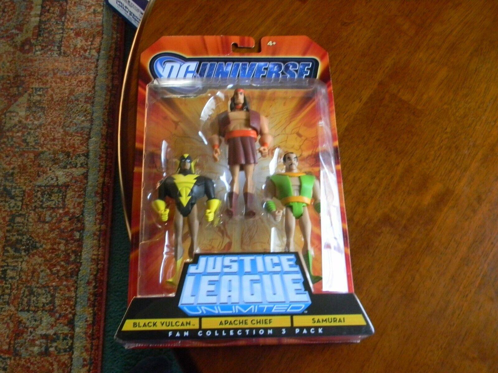 DC UNIVERSO Justice League Nero Vulcano, capo apache, SAMURAI Confezione da 3