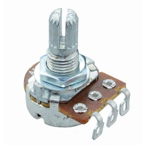 5x 1 M 16 mm Logarítmico Potenciómetro de soldadura Lugs Pot estriado