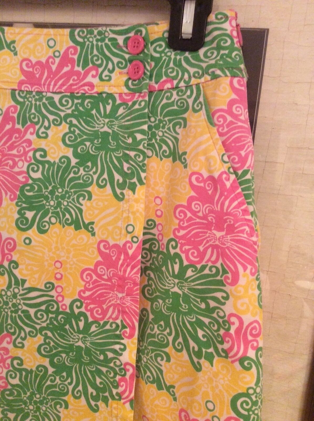 NWOT Lilly Pulitzer wrap bright multi color skort  SZ O  78.00