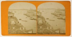 Venezia La Douane Italia Foto Stereo PL55L4n Vintage Albumina