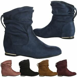 Women's Slouchy Pull On Hidden Height Ankle Booties