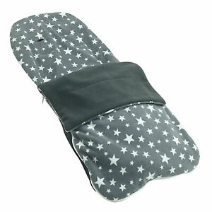 Snuggle-Summer-Footmuff-Compatible-With-Joie-Stroller-Buggy-Pram-Grey-Star