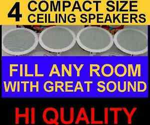 4-PACK-CEILING-IN-WALL-6-5-034-HI-QUALITY-SPEAKERS-GREAT-STEREO-SOUND-4x