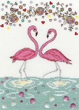 BOTHY THREADS  XKA9  Love Flamingo  Broderie  Point de croix  Compté