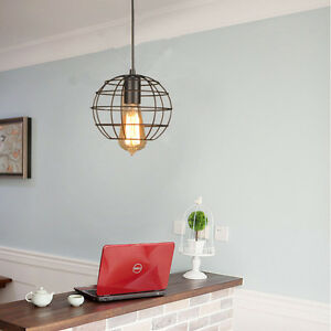 Vintage Pendant Light Fixtures Kitchen Ceiling Lamp Bar Black LED - Ebay led kitchen ceiling lights