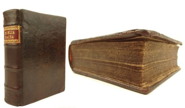 1567 Biblia Sacra (latin,Holy Bible),Frellon. Rare,gauffered,woodcuts,maps,etc..