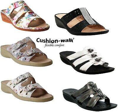 Mid Wedge Heel Mules Summer Sandals 3