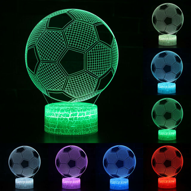 Football 3D Illusion LED Table USB Lamp Night Light Switch Color Changing Gifts
