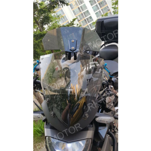 Adjustable Windshield Windscreen Screen For Yamaha FJ-09 2015-2016 Light Gray