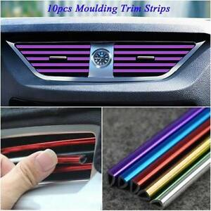 10x-Car-Auto-Air-Conditioner-Air-Outlet-Accessories-Decor-Colorful-Strip-Kits