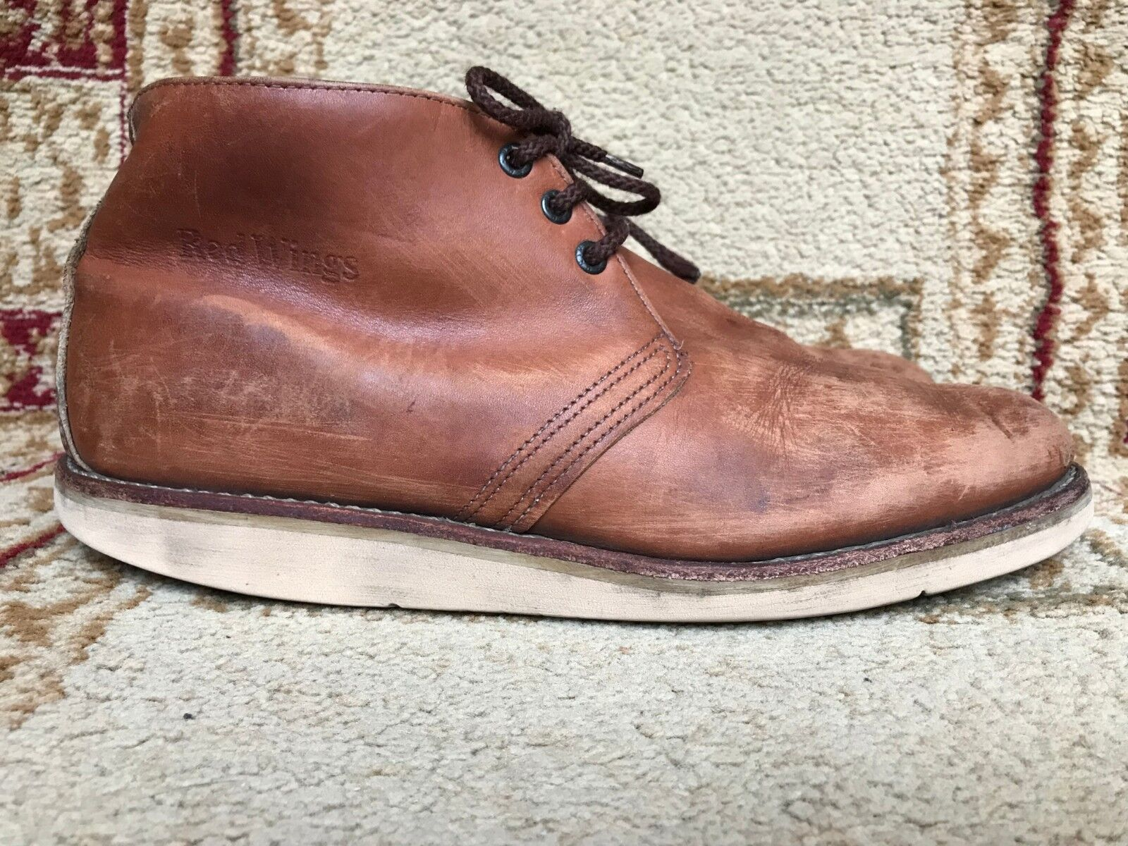 Red Wing 595 Heritage Pelle Uomo Chukka Size 12 D