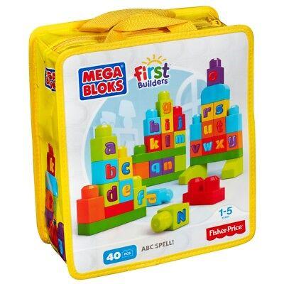 Mega Bloks First Builders ABC Spell Building Set