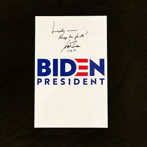 Signed Joe Biden President 2020 Poster W Exact Proof Candidate Autograph Ebay