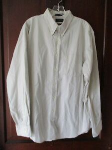 Dockers-Men-039-s-Size-L-Solid-Beige-Classic-Fit-Long-Sleeve-Button-Front-Shirt