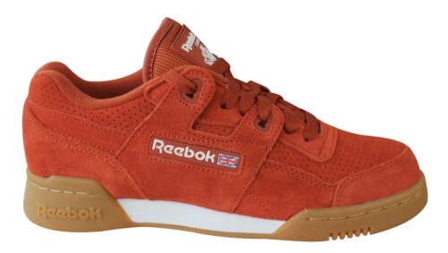 Reebok Workout Plus EG Mens Womens Unisex Trainers LaceUp Burnt Amber CN1052 M7