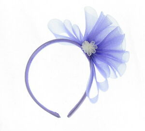 1d84a8ad1c58f Image is loading Fascinator-light-lilac-mesh-hair-headband-Weddings-Races-