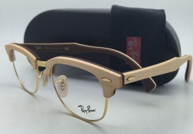 46fa82e342 Ray-Ban Clubmaster Rx-able Eyeglasses RB 5154-m 5558 Maple Wood on ...