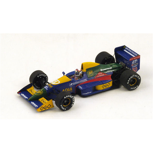 LOLA LC89 P.ALLIOT 1989 N.30 6th SPAIN GP 1:43 Spark Model Formula 1 Formula 1