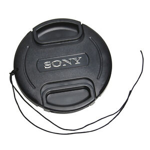49 mm Snap On Front Lens Cap Cover Center Pinch with String for Sony EOS Camera