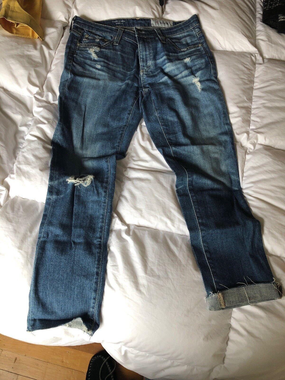 AG Jeans size 27R The Stilt Crop Cigarette Crop