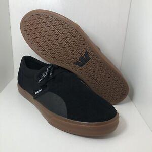 Supra-Skateboarding-Shoes-Low-Black-08106-036-Mens-Size-10-5