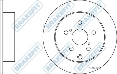 2x Brake Discs Pair Solid fits TOYOTA COROLLA ZNR11 1.8 Rear 04 to 09 1ZZ-FE