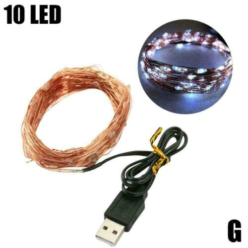 1M 5M 10M USB LED Micro Rice Wire Copper String Fairy Party Home Lights Z2V8