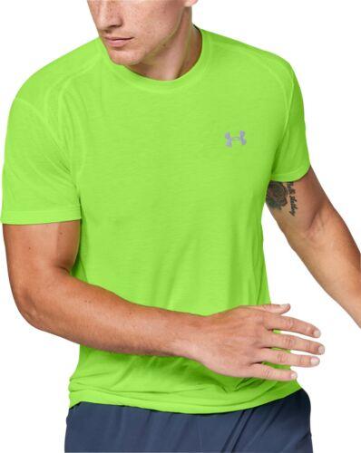 Green Under Armour Streaker 2.0 Short Sleeve Mens Running Top