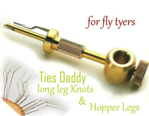 THE DADDY KNOT TIER Daddy long leg Fly Tying Tie Pheasant Tale Fibers