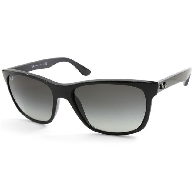 fd14888d243 Ray-Ban Highstreet RB4181 601 71 Polished Black Grey Gradient Unisex  Sunglasses